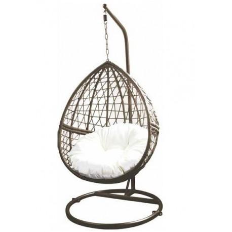 Sedia Dondolo Sospesa.Poltrona A Dondolo Sospesa Per Giardino 85x60195 Cm Brico Casa