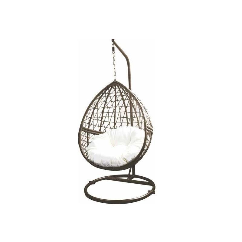 Poltrona a dondolo sospesa per giardino 85x60195 cm for Dondolo per giardino