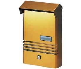 Lido - Cassetta postale verticale singola bronzo dorata - Blinky