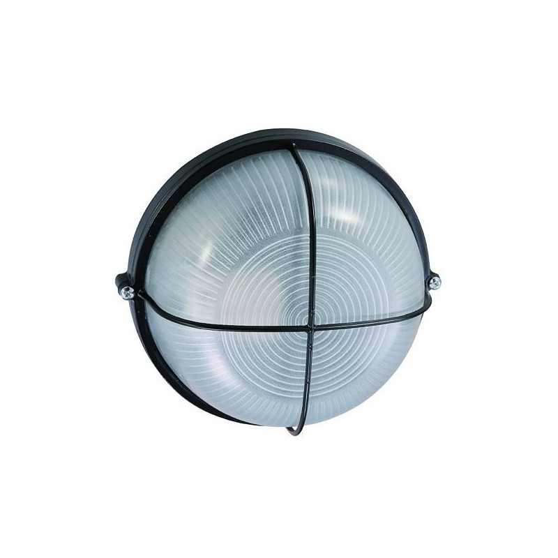 Plafoniera Alluminio Blinky Luna Tonda Nera 60 Watt