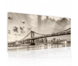RIFLESSI SU BROOKLYN - QUADRO DIPINTO ASTRATTO PICTURES