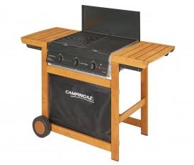 Adelaide 3 Woody - Barbecue in legno con piastra in ghisa 3 bruciatori - Campingaz