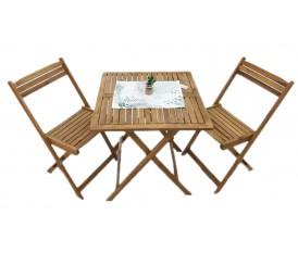 Garden tavolino tondo e sedie pieghevoli in ferro colore for Tavoli pieghevoli brico