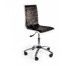 Sedia per scrivania con formule matematiche nera - Smoke
