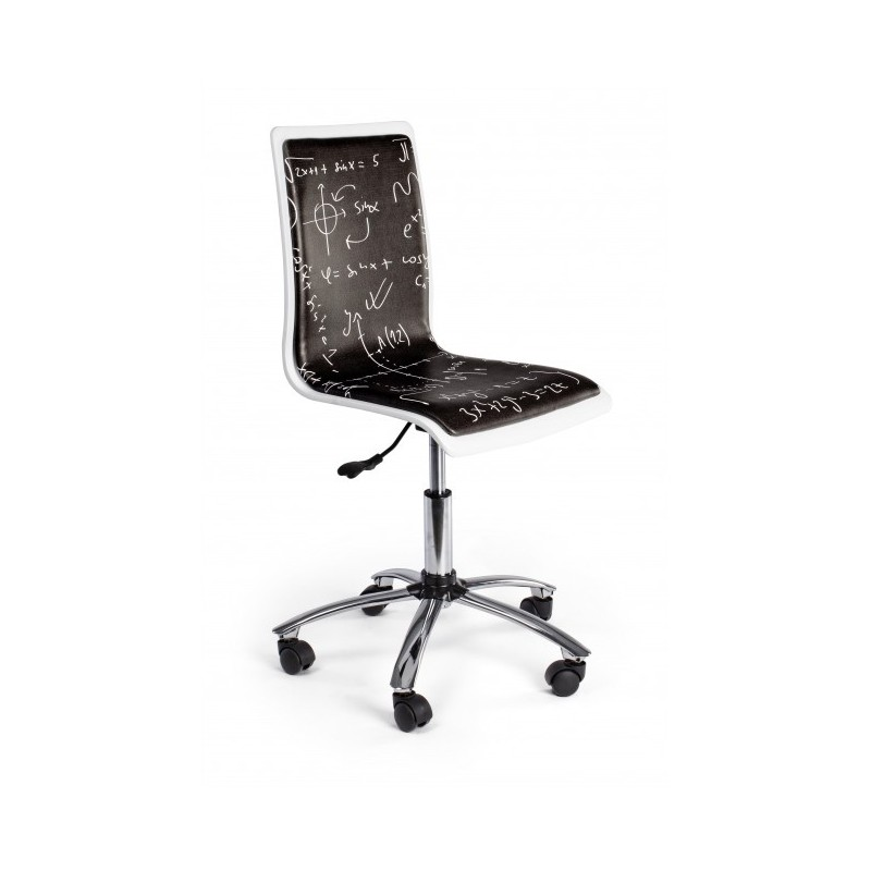 Sedia per scrivania con formule matematiche nera smoke - Sedia scrivania ...