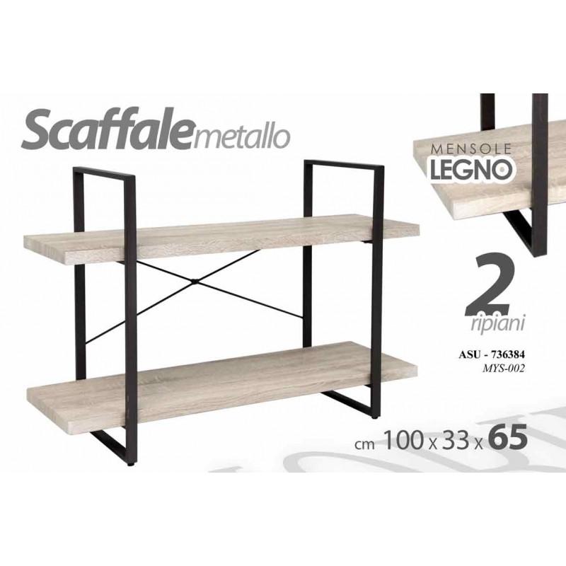 Metro Scaffali Metallici.Scaffale Struttura In Metallo Ripiani 2 Legno Brico Casa