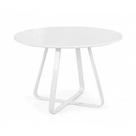 Tavolo Bianco Tondo.Axelle Tavolo Tondo Bianco 110 Cm Brico Casa