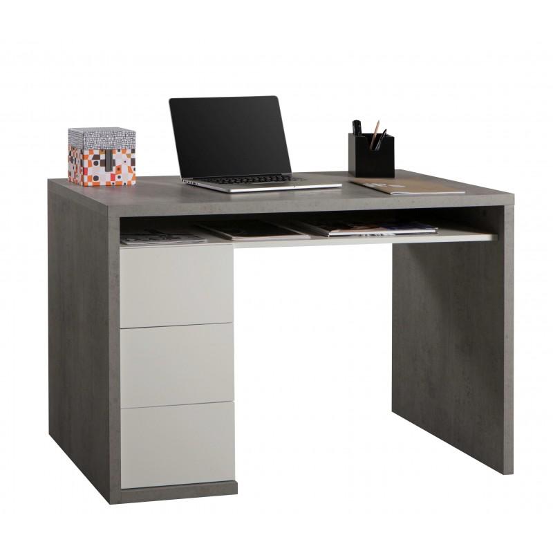 scrivania postazione pc studio con 3 cassetti doppio