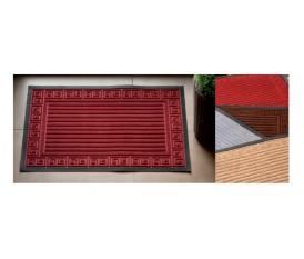 Zerbino ingresso casa in gomma e tessuto | 4 colori | Antiscivolo | 40 x 60 cm