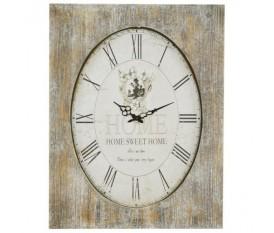 Orologio da parete rettangolare in legno