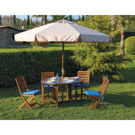 Ombrellone da giardino in legno 2x3 metri bianco ecru con - Ombrelloni da giardino brico ...