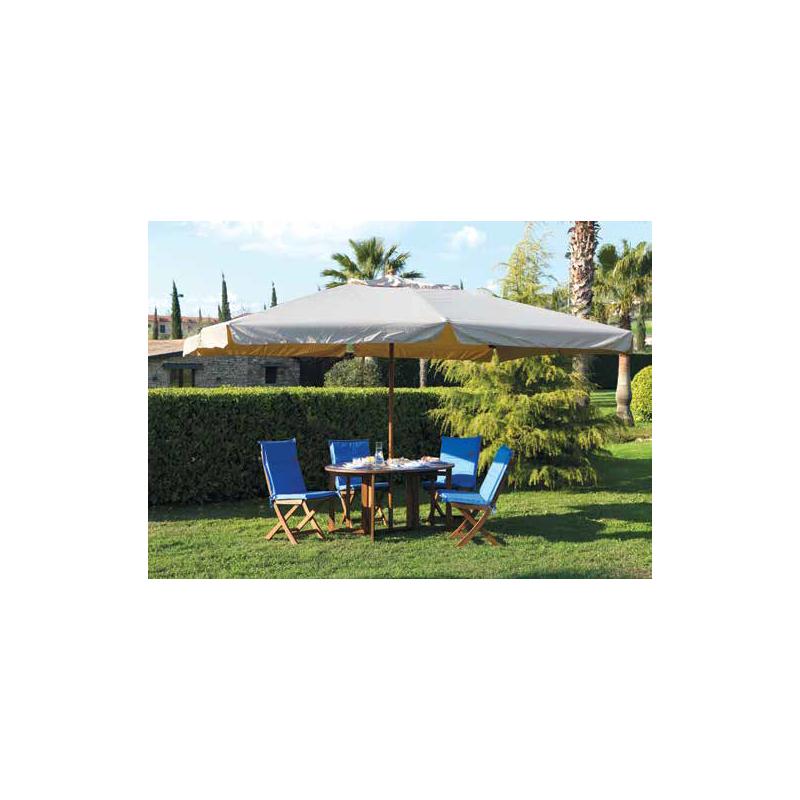 Ombrelloni Legno Da Giardino.Ombrellone Da Giardino In Legno Bianco Ecru 3x3 Metri Brico Casa